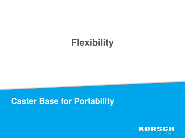 Caster Base for Portability
