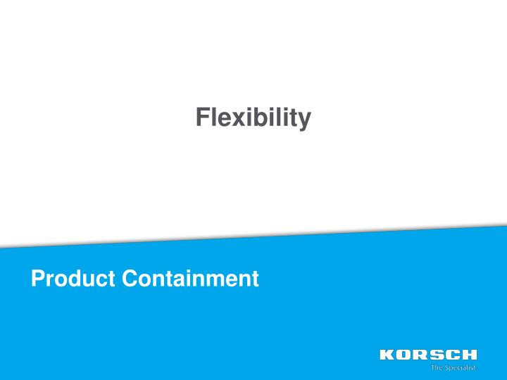 Product Containment