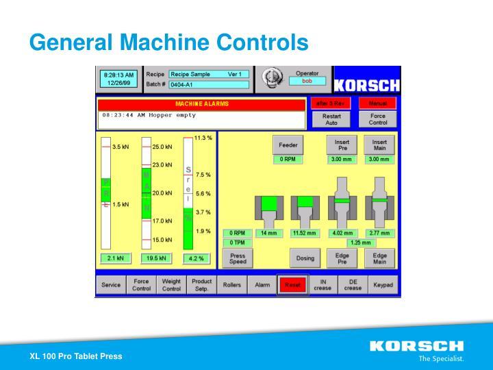 General Machine Controls