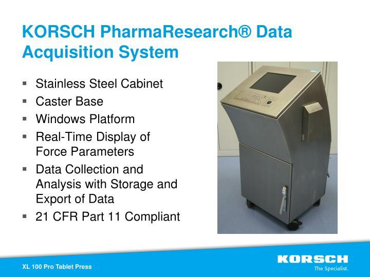 KORSCH PharmaResearch® Data Acquisition System