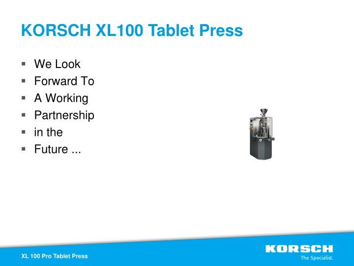 KORSCH XL100 Tablet Press