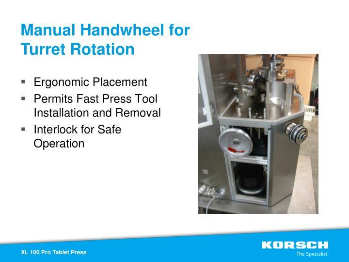 Manual Handwheel for