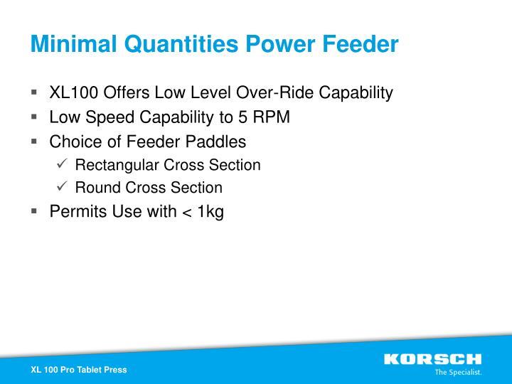 Minimal Quantities Power Feeder