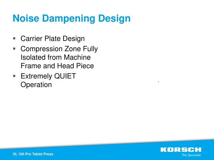 Noise Dampening Design