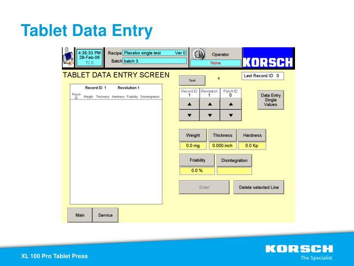 Tablet Data Entry