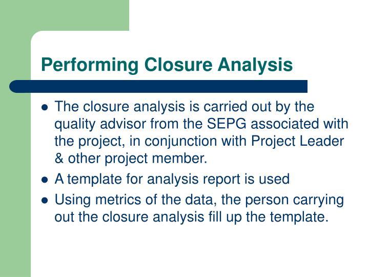 project closure report