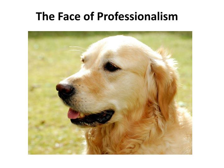 The Face of Professionalism
