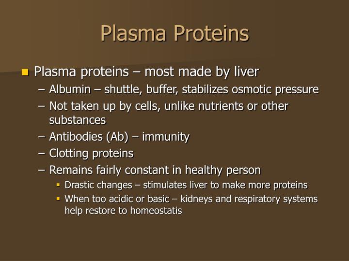 Plasma Proteins