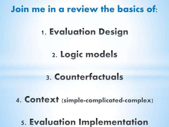 Join me in a review the basics of: