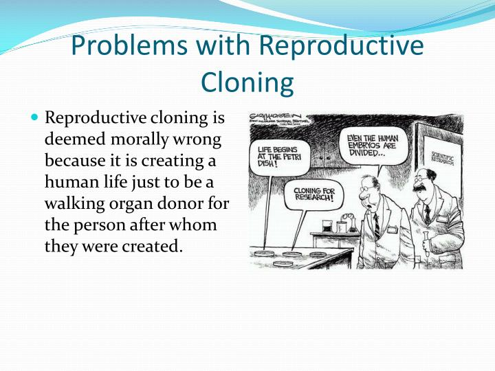 the debate over whether cloning is beneficial for humans The debate over cloning illustrates how complex innovations in biotechnology often outpace society's ability to make sense of them most consumers will likely never eat a cloned animal because clones are expensive it is their progeny that will enter the food chain.