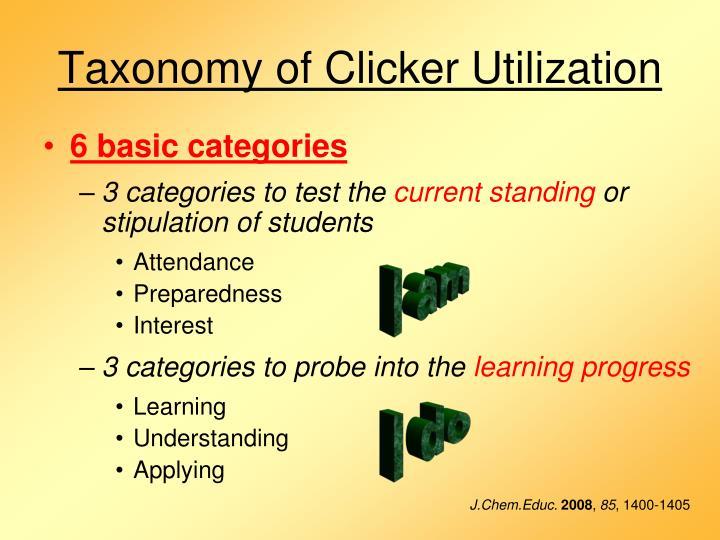 Taxonomy of Clicker Utilization