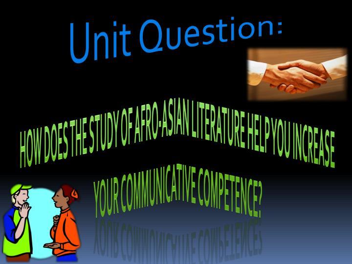 Unit Question: