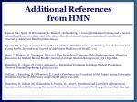 additional references from hmn