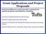 grant applications and project p roposals