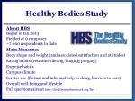 healthy bodies study