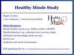 healthy minds study