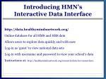 introducing hmn s interactive data interface