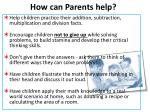 how can parents help