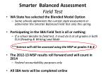 smarter balanced assessment field test