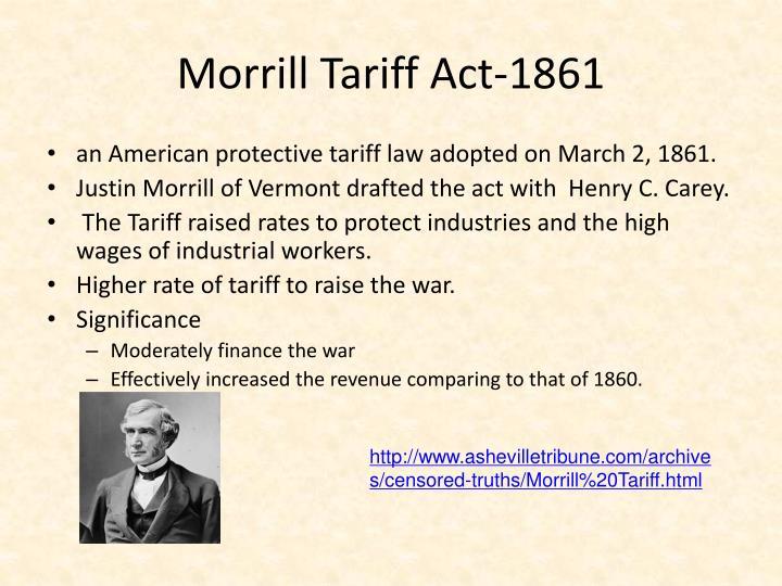 Image result for morrill tariff