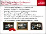 plantpax foundation fieldbus and profibus pa lab overview