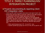 title x family planning hiv integration project3