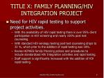 title x family planning hiv integration project4