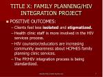 title x family planning hiv integration project5