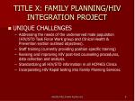 title x family planning hiv integration project6
