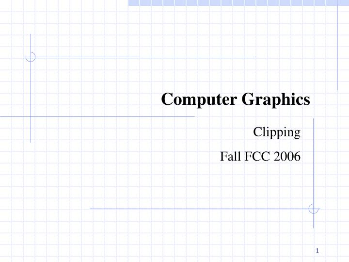 PPT - Computer Graphics PowerPoint Presentation - ID:2400502