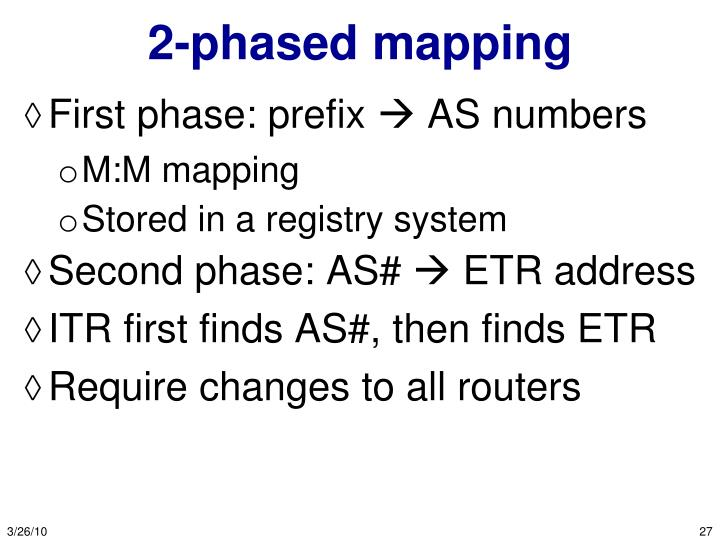 2-phased mapping