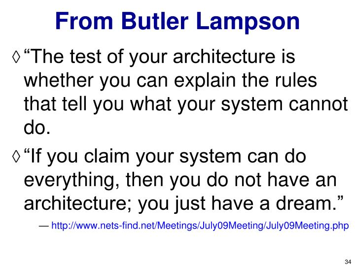 From Butler Lampson