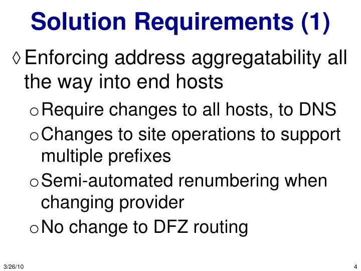 Solution Requirements (1)