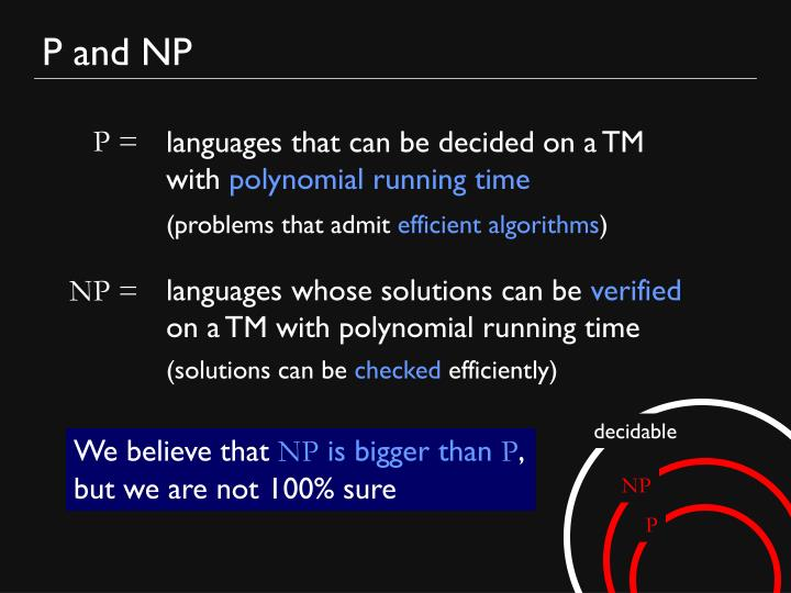 P and NP