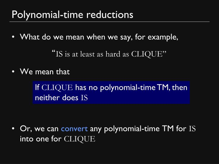 Polynomial-time reductions