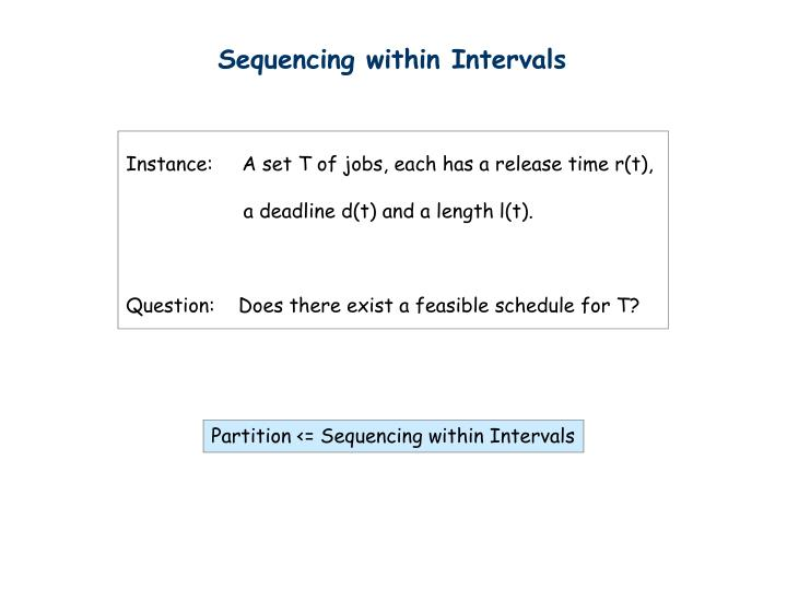 Sequencing within Intervals