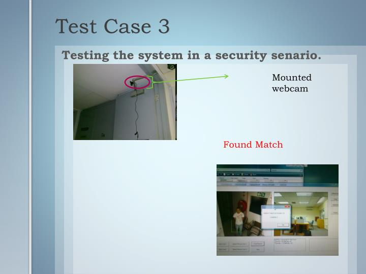 Testing the system in a security