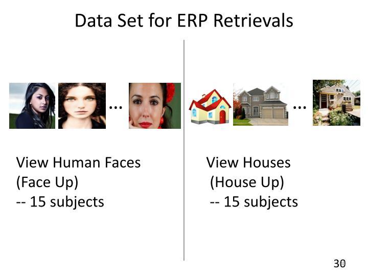 Data Set for ERP Retrievals