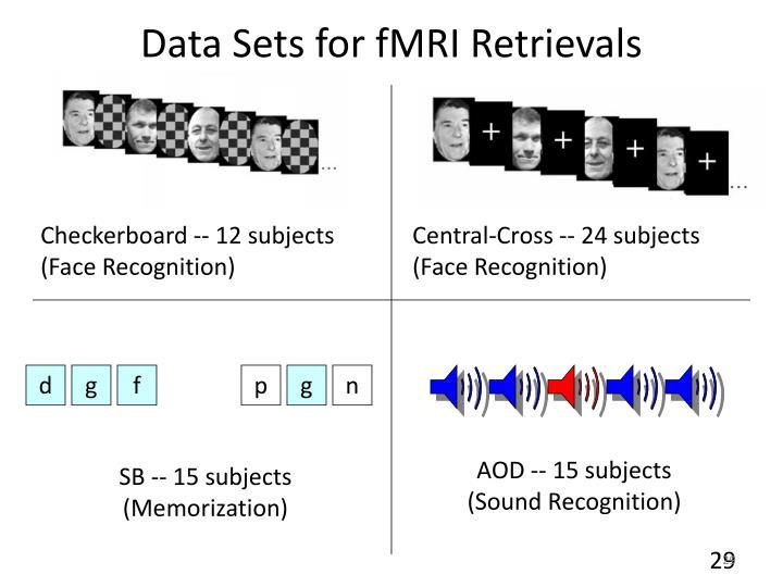 Data Sets for fMRI Retrievals