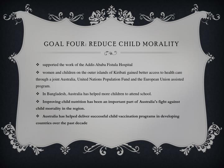 Goal four: reduce child morality