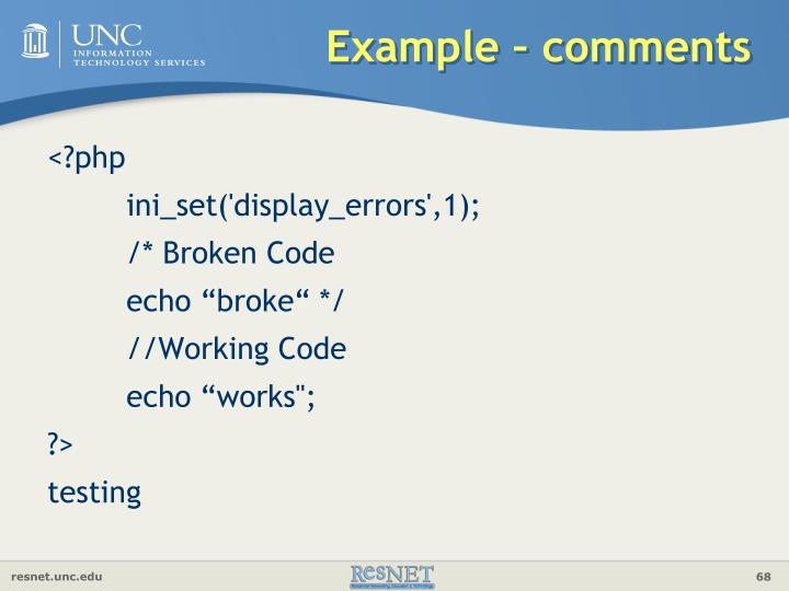 Example – comments