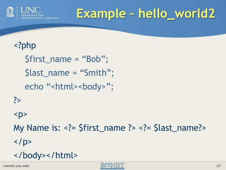 Example – hello_world2