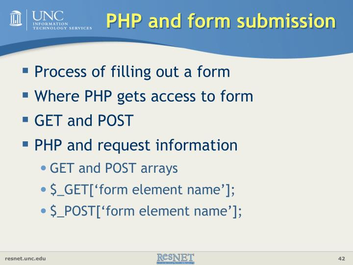 PHP and form submission