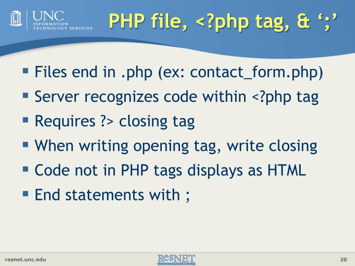 PHP file, <?