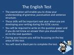 the english test