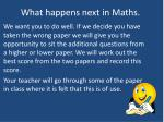 what happens next in maths