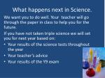 what happens next in science