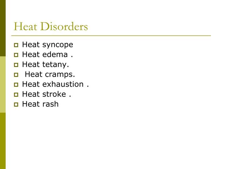 Heat Disorders