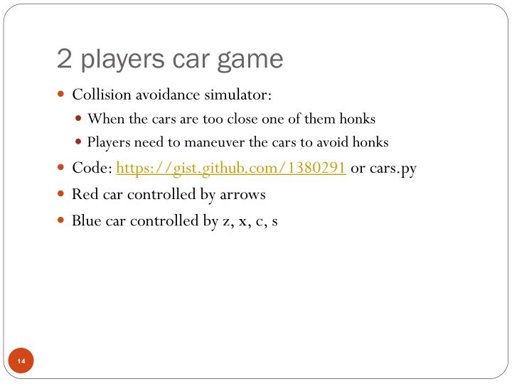 2 players car game