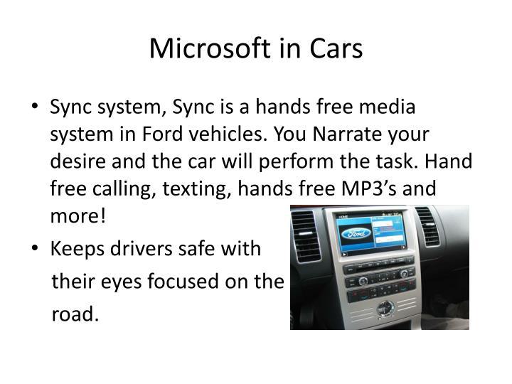 Microsoft in cars1